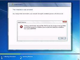 Windows 7/8 Kurulum Hatası 0x80070570
