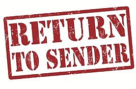 Undelivered Mail Returned to Sender